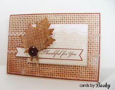 MFTWSC137 Thanksgiving Holiday Leaves Leaf My Favorite Things MyFavoriteThings MFT  Stamp Die Die-Namics Blog: www.CardsByBecky.blogspot.com