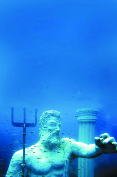 Turkey's and Europe's first underwater museum has officially opened in Antalya. The museum displays 110 sculptures in five different themes Under The Water, Under The Sea, Underwater Sculpture, Underwater City, The Places Youll Go, Places To See, Turkey Destinations, Turkey Holidays, Usa Tumblr