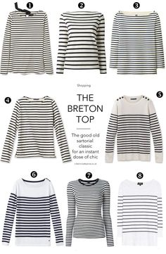 Breton stripes- just pack one for every trip. Always in style.