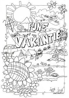 Young people PKN Beekbergen and Lieren - Young people PKN Beekbergen and Lieren - Colouring Pages, Adult Coloring Pages, Coloring Books, Summer Crafts, Summer Art, Summer Activities For Kids, Diy For Kids, Kids Talent, Aperol