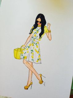 Melsy's Illustration - Lemon Dress