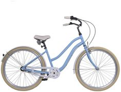 """Dámské kolo Cossack Miami 17""""/3r, modré Stylové dámské kolo Cossack Miami vyvedené v retro stylu s 3 rychlostním řazením. Pohodlný cruiser určený do města, na cesty nebo jenom tak na vyjížďky pro parádu. Design připomínající motocykl je v tomto případě zcela účelový. Rám kola je vyroben z hliníku a je tak mnohem lehčí, nežli kola vyrobená z oceli. Pohodlné sedlo je samozřejmostí. Za nepříznivého počasí Vás ochrání zadní a přední blatník a účinný kryt na řetěz. Kolo je vhodné pro výšku… Miami, Bicycle, Design, Bike, Bicycle Kick, Bicycles"""