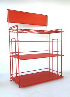 Check out this item in my Etsy shop https://www.etsy.com/listing/235752027/shelf-vintage-storage-rack-countertop