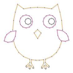 Uil   Spijkerafbeeldingen   spijkerpatroon Kitsch, Crafty, Prints, Prego, Diy, Jewelry, School, Craft Ideas, Line