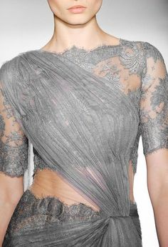 A grey blue lace lehenga saree with in built dupatta - Indian couture - Indian wedding fashion - Indian designer - modern Indian wedding - Indian bridal fashion #thecrimsonbride