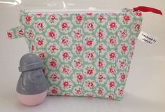 Cath Kidston Green Provence Fabric Cosmetic Purse Handmade in Scotland by sewmoira on Etsy