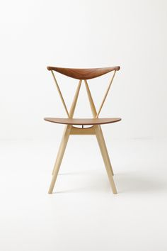 Piano chair (1955) By stellar works, wooden restaurant chair design Vilhelm Wohlert, wohlert Collection #ModernChair