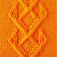 Вязание спицами рельефный узор №3712 схема
