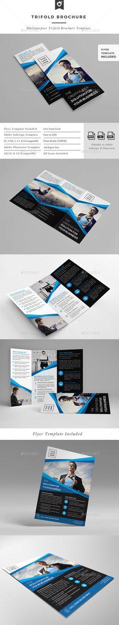 Trifold Brochure Template #design Download: http://graphicriver.net/item/trifold-brochure-template/12985046?ref=ksioks
