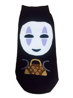 New Unisex Sen And Chihiro No Face Kamikakushi Character & Mini bag Cotton Socks