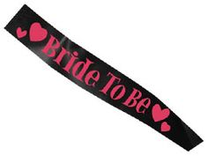 To match our black & pink hen party sash this Bride To Be sash. Perfect to go with that black hen night dress http://www.funkyhen.com/hen-party-sashes/black-and-pink-bride-to-be-sash/
