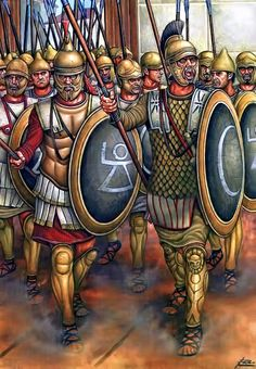 The Sacred Band. Trained from an early age to be tough swordsmen and spear-men, these men were from wealthy Carthaginian families, and as such had extremely good equipment. They fought as a traditional phalanx organized in the Hellenic style.