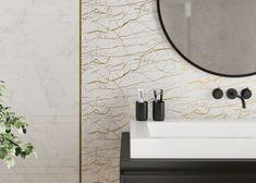 Бордюры для плитки могут применяться везде, где используется кафельная плитка. Это важный элемент в ремонте, придающий законченный вид помещению, будь то ванная комната или кухня. Он также играет роль декоративной изюминки, которая может использоваться для разделения зон, выложенных плиткой. #золотовинтерьере#золотистый#металлик#бордюр#зонирование#design#interior#bathroom#gold Mirror, Bathroom, Metal, Furniture, Home Decor, Washroom, Decoration Home, Room Decor, Mirrors