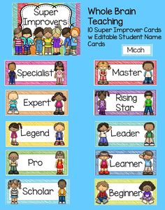 FREE Whole Brain Teaching Posters ~Class Rules~ Scoreboard & Super Improvers Wall. Super cute set!