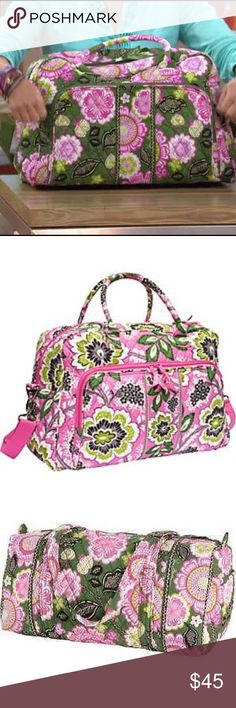 Vera Bradley quilted weekender bag The bag is the same as the first image but the second is a stock photo of the style and the last one is the print- will post additional images later of the actual bag used only a few times in perfect condition Vera Bradley Bags Travel Bags