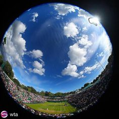 We're looking forward to watching everyone play on the middle Monday! Any upset alerts out there?! #Wimbledon #ATP #WTA #tennis  #Repost @wta with @repostapp ・・・ Now that's a cool view   #Wimbledon