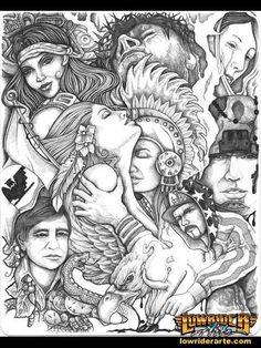 Image detail for -tattoo flash chicano urban boog tattoo letras tattoo chicanos…