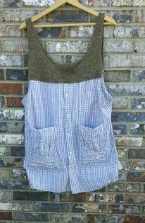 Artisan Smock with 3 Pockets/ Size Small to by RebirthRecycling, $65.00