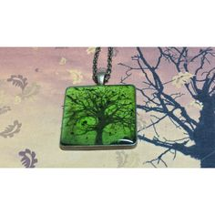 Dead Trees Green Tree Necklace Creepy Tree Necklace, Dead Tree with... ($17) ❤ liked on Polyvore featuring jewelry, necklaces, goth necklace, pendants & necklaces, green pendant necklace, goth jewelry and gothic jewelry