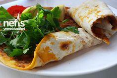Ev Yapımı Lahmacun – Nefis Yemek Tarifleri Meat Recipes, Wine Recipes, Cooking Recipes, Creamed Mushrooms, Stuffed Mushrooms, Turkish Recipes, Ethnic Recipes, A Food, Food And Drink