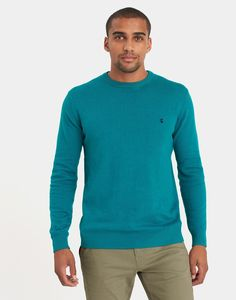 Retford Teal Marl Crew Neck Jumper  | Joules UK
