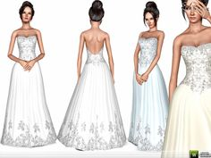 Strapless Wedding Gown by ekinege - Sims 3 Downloads CC Caboodle