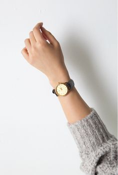 Minimal and classic, with a leather band. In my opinion, the best kind of wristwatch.
