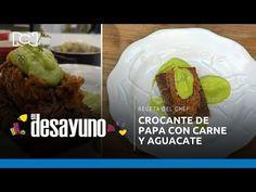 El Desayuno | Papa con carne desmechada y crema de aguacatei - YouTube Chefs, Mexican, Ethnic Recipes, Youtube, Food, Breakfast, Dishes, Avocado, Essen