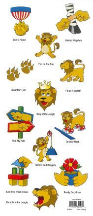 Stickers are placed in the boy's Adventure Guide as he accomplishes the tasks of a Lion Cub Scout