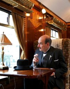 Hercule Poirot on the Orient-Express  /  Of all the episodes I have watched ( and own ) this is the only one I really did not like.  Most are very good.  David Suchet is masterful as Poirot.
