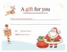 Gift Voucher Template Powerpoint 25 Best Gift Certificate Template with Printable Christmas Gift Vouchers Templates Free Free Printable Gift Certificates, Gift Certificate Template Word, Free Gift Certificate Template, Gift Card Template, Templates Printable Free, Certificate Design, Letter Templates, Printable Cards, Christmas Gift Voucher Templates