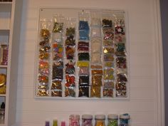 Magnetic board for storage of embellishments - Scrapbook.com