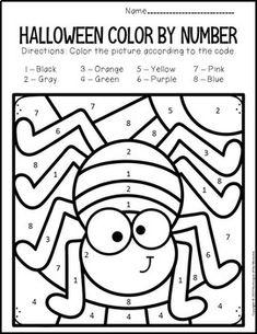 Printable Halloween, Halloween Worksheets, Fall Preschool, Preschool Crafts, Halloween Preschool Activities, Thanksgiving Activities, Preschool Classroom, Halloween Crafts For Toddlers, Halloween Kids