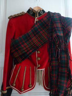 Superb Qoch WW1 Era Officer Doublet Cameron Highlanders Scottish Jacket