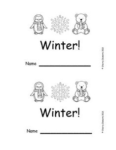 Emergent Reader: This is a (Winter) 10 pages $