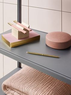 COS x HAY pink and gold accessories for the home