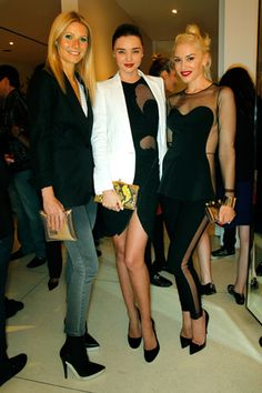 Gwyneth Paltrow with Miranda Kerr and Gwen Stefani both (in Stella McCartney) @ Stella McCartney and Paul McCartney's Video Release Party