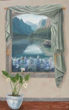 Tromp l'oeil window