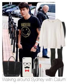 """Walking Around Sydney With Calum"" by hazzgirl03 ❤ liked on Polyvore featuring beauty, Topshop, Charlotte Russe, La Garçonne Moderne, Vanessa Bruno, Casetify and Lancôme"