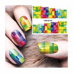 ZKO 1 Sheet Watermark Stickers Nail Art Water Transfer Tips Decals  Beauty Temporary Tattoos Tools  8141