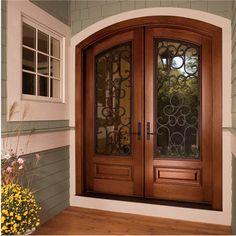Exterior Design Ideas, Pictures, Remodels and Decor Modern Entrance Door, Main Entrance Door Design, Wooden Front Door Design, House Front Design, House Entrance, Entry Doors, Best Front Doors, Beautiful Front Doors, Wood Front Doors