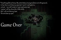 Overly Dramatic Game Over Screen by RpgFinland