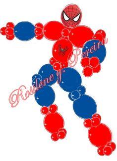 Projeto de balões Homem aranha Its A Boy Balloons, Love Balloon, Balloon Arch, Balloon Centerpieces, Balloon Decorations Party, Birthday Decorations, Balloon Pillars, Graduation Balloons, Balloon Animals