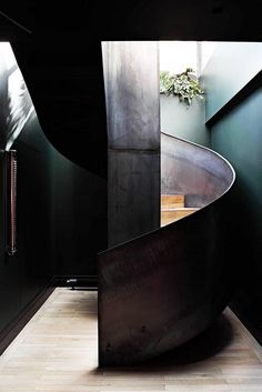 Love the industrial staircase in this Parisian Loft by Studio KO Stairs Architecture, Architecture Details, Interior Architecture, Interior Closet Doors, Interior Stairs, Modern Barn House, Mad About The House, Whatsapp Wallpaper, Stair Steps