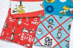 Baby Washcloths Cat in the Hat New Mother by CreativeQuiltsAndEtc, $5.75