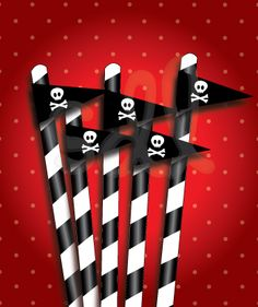 Printable Pirate Flags Party Decor
