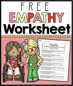 A worksheet to help students learn what empathy is and how they can display empathy in various situations.