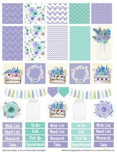 Free Planner Sample Stickers with Chore Check List. Getting Organized Can be…