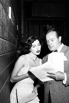 ava gardner and bob hope. photo by murray garrett. 1950's.