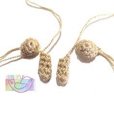 Patrón perro labrador (golden retriever) Perro Labrador Golden, Golden Retriever, Crochet Necklace, Chain Stitch